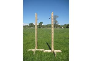 Pair 5ft Tanalised Training Wings with 4 Jump Cups