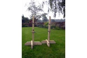 Pair 3ft Tanalised Training Wings with 4 Jump Cups